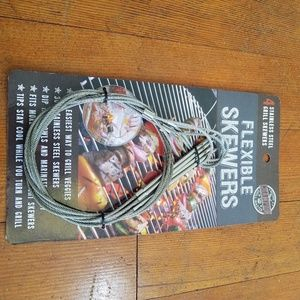 2/$15  Set of 4 stainless steel flexiable skewers